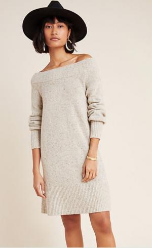 Boat Neck Sweater Dress