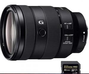 Beach Camera Sony FE 24-105mm F4 G OSS E-Mount Full-Frame Zoom Lens (SEL24105G) with Sandisk Extreme PRO SDXC 128GB UHS-1 Memory Card